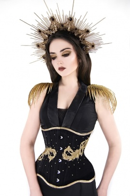 Gorset underbust Golden Leaves