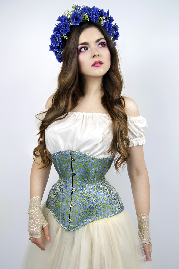 Gorset underbust Forget Me Not
