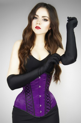 Underbust Violet Butterfly